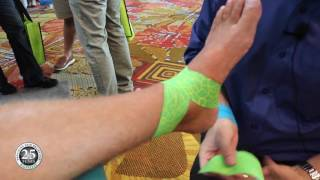 How to Apply Kinesiology Tape to a Sprained Ankle
