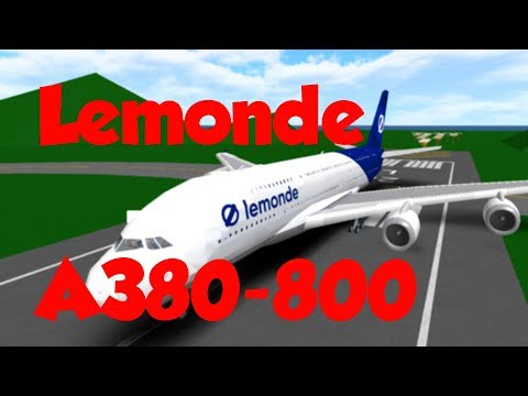 ROBLOX || Lemonde A380 Flight! (Kinda Gone Wrong)