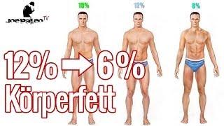 Von 12% auf 6% Körperfett | Wie ich es geschafft habe!