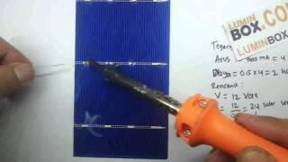 Cara solder sel surya-Membuat Solar panel #1