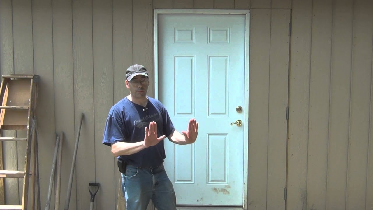 How to make a 4 foot wide door on a shed with for 10 feet wide garage door