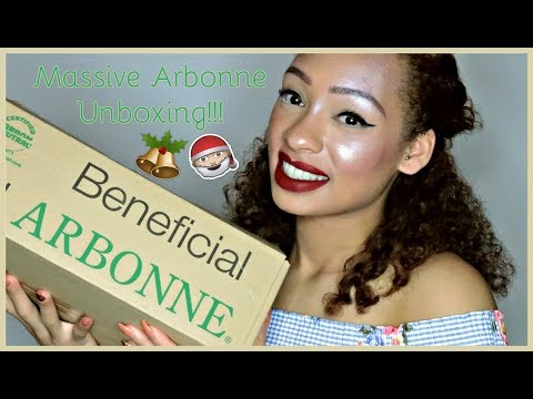 MASSIVE ARBONNE UNBOXING!!!   Arbonne Christmas   Valerie Stormer