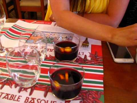 Sangria au restaurant La Table Basque à Biarritz 比亚里茨
