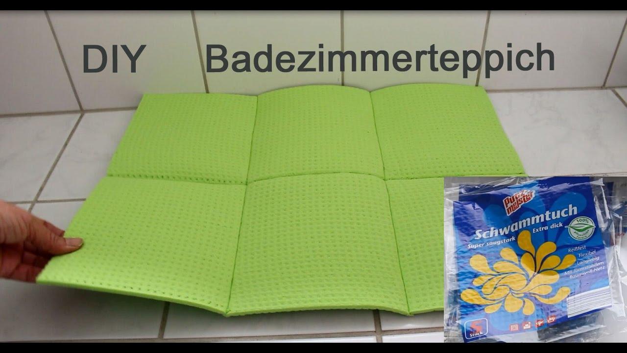 Teppich fürs Bad aus Schwammtücher selber machen - DIY Carpet for ...