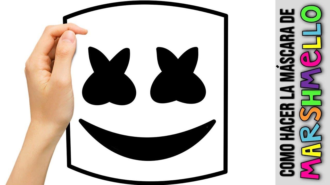 Como Hacer El Casco De Marshmello Diy Mascara De Papel How To