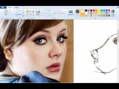 Drawing Adele - MS Paint - YouTube