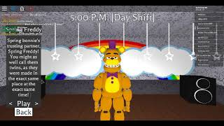 all of the secret characters so far in fredbear and friends roblox