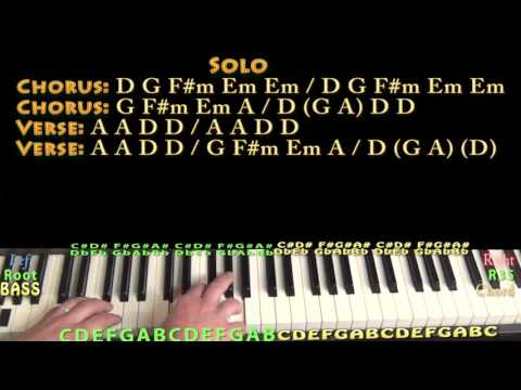 Turn! Turn! Turn! (The Byrds) Piano Cover Lesson in D with Chords/Lyrics