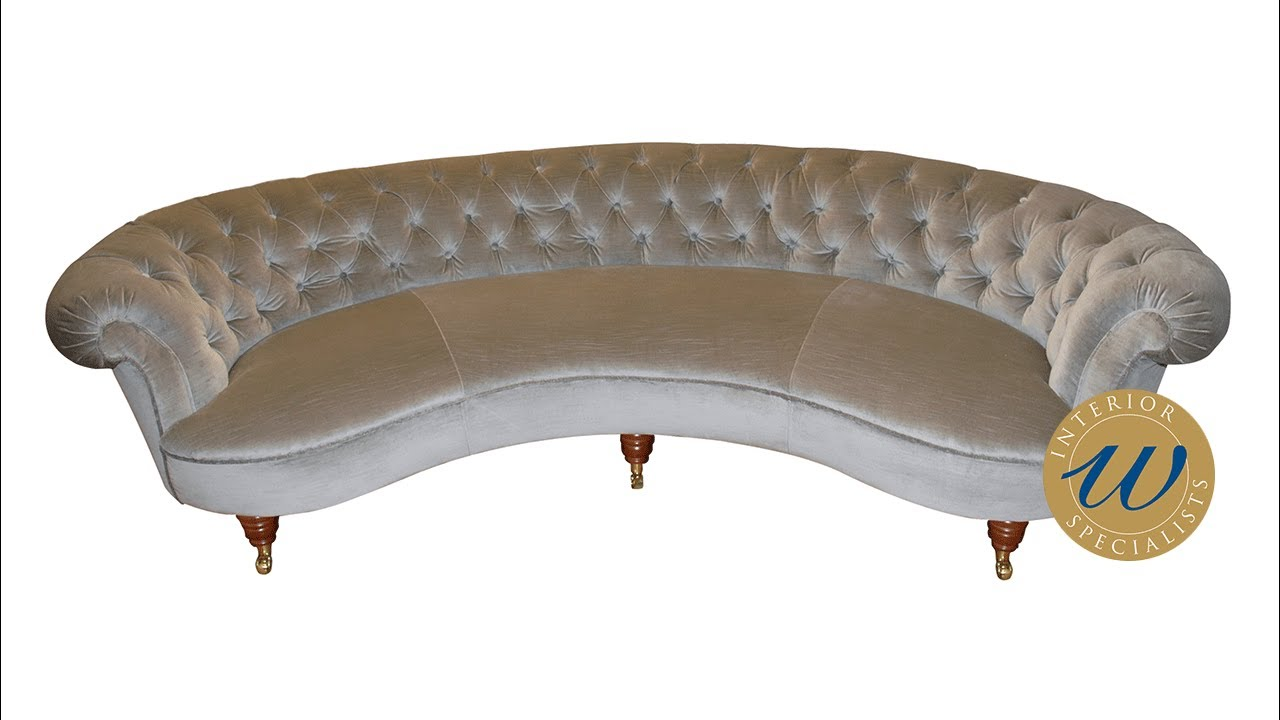 Buttoning A Curved Conversation Couch | E U0026 A Wates | London
