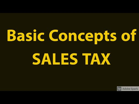 Basic Of Sales Tax Act 1990