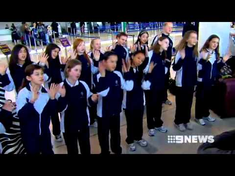 Perth College's London Tour Students on Channel 9 News