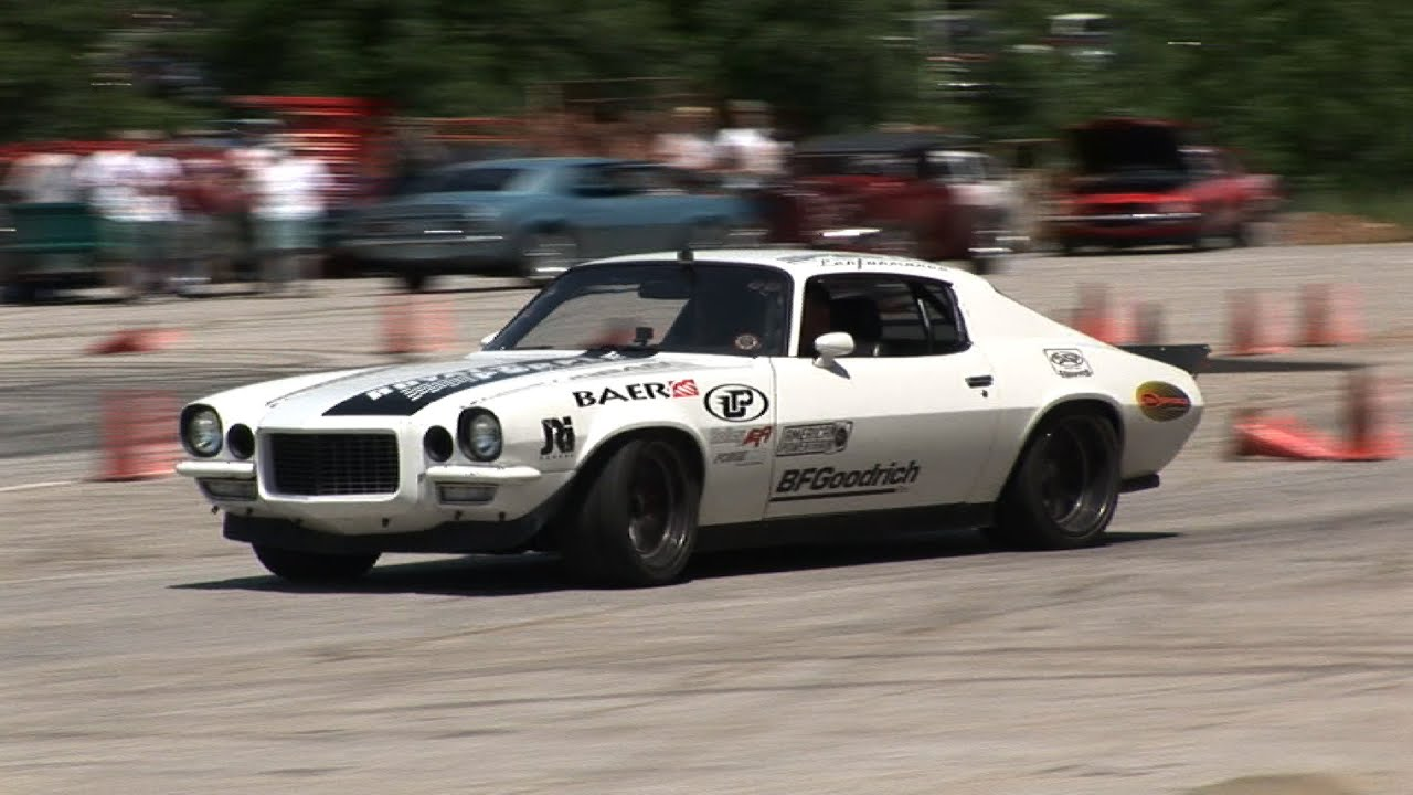 BAD A$$ AutoCross CAMARO - Driving like a BOSS! - YouTube