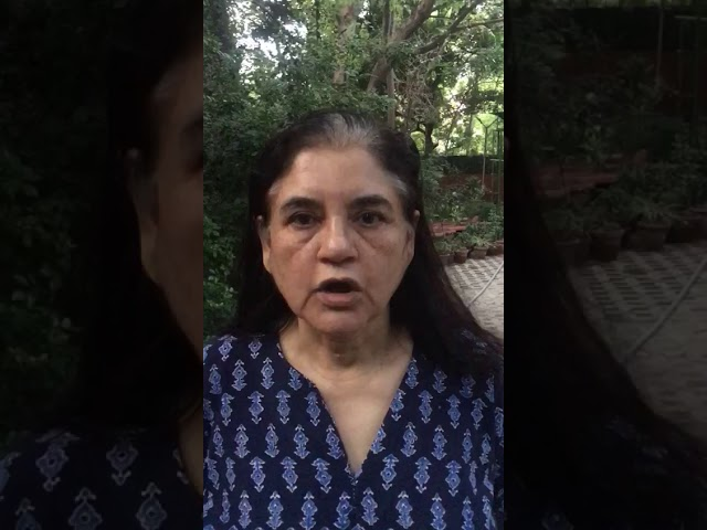 Smt. Maneka Gandhi on Cats and Corona