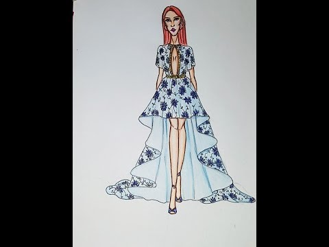 Fashion Drawing Draw High Low Dress Youtube