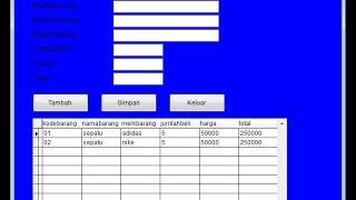 cara membuat form tabel barang di foxpro part 1