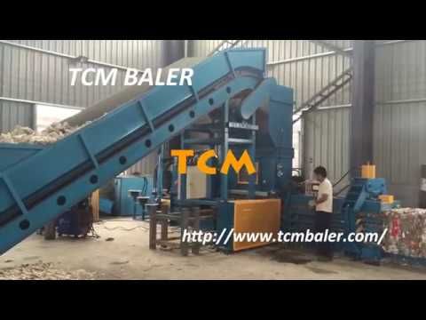Shreaded Paper Baling Machine Cardboard Baler Paper Shred Baler