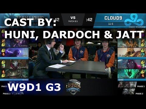 TL vs C9 - cast by Huni, Dardoch & Jatt (NA LCS Lounge)   Week 9 Day 1 S8 NA LCS Spring 2018