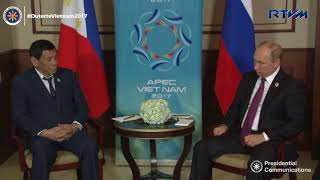 Bilateral Meeting with President Vladimir Putin of Russia 11/09/2017