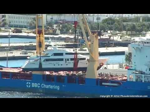 Heavy Lifting - Yacht Unload at Port Everglades - 9/30/2012