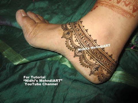 Mehndi Ankle Images : Bridal anklet feet ornament jewellery design inspired henna mehndi