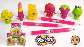Shopkins Pencil Toppers 2 Packs - Kooky Cookie,  Apple Blossom - Toy Unboxing Video Cookieswirlc