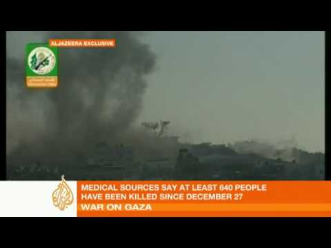 Footage of attacks on Israeli troops in Gaza - 06 Jan 09