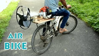 How to Convert Your Bicycle into Air Bike with Grass Cutter Engine at Home - Simple