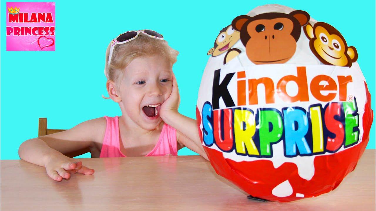 Обезьяны Киндер большое яйцо с сюрпризами открываем яйца с игрушками Giant surprise egg Monkey toys