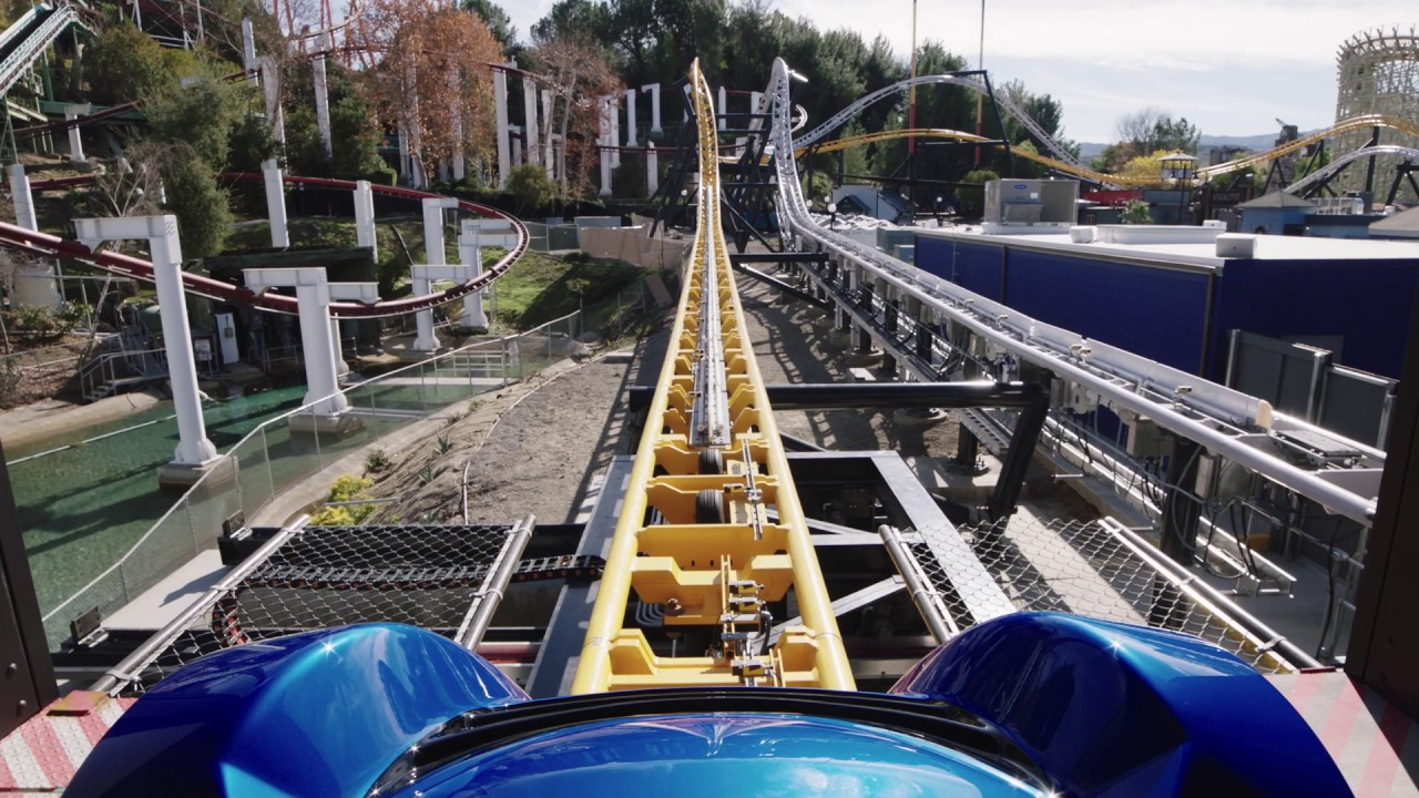West Coaster Racers POV + Off Ride, Six Flags Magic Mountain