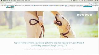 Website Design for dog walker, pet sitter, dog trainer