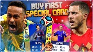 FIFA 18: Brasilien vs Belgien BUY FIRST Special Card! 97 NEYMAR vs 97 HAZARD!
