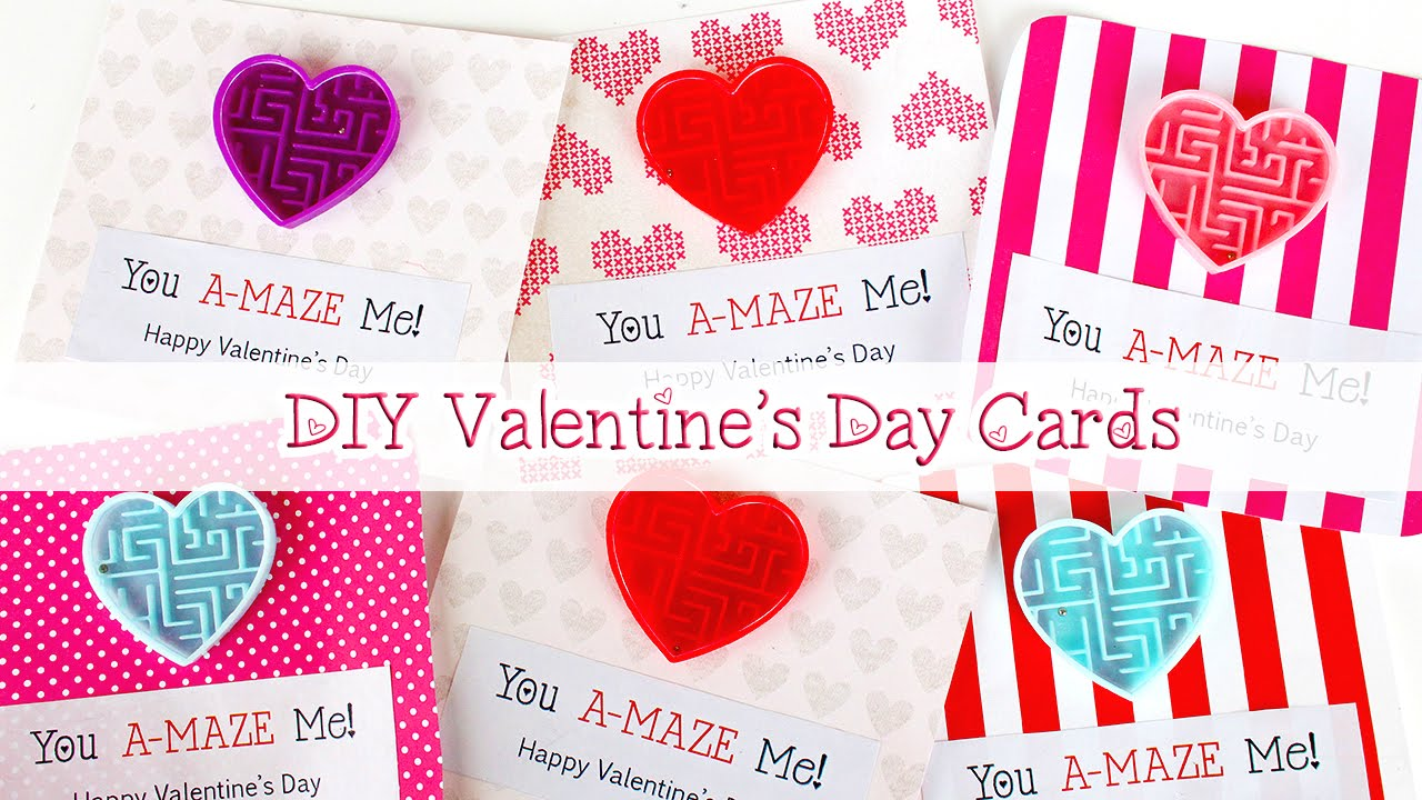 Last Minute Diy Valentine S Day Gifts Valentine S Day Cards Easy