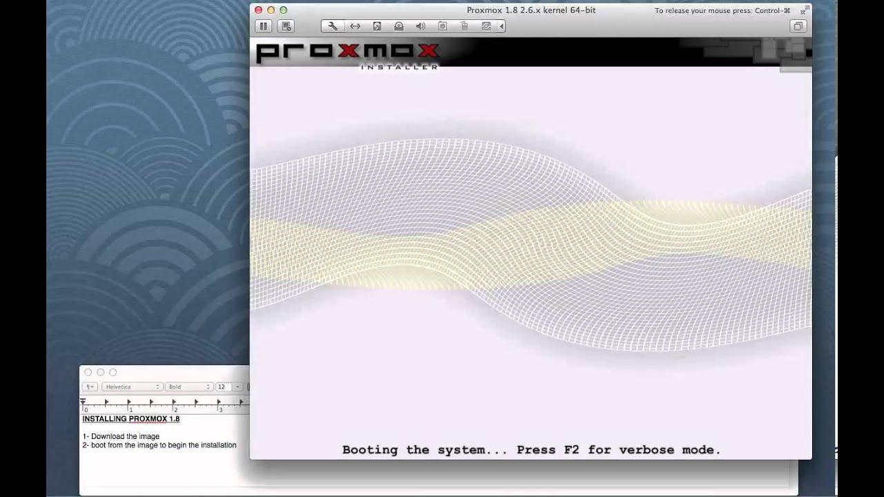 proxmox ve 1.8
