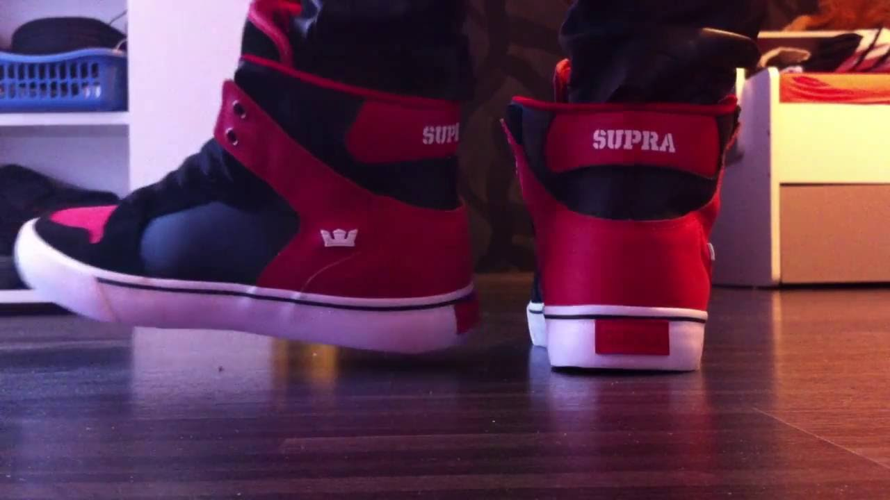 huge discount c5ff0 a3a09 Supra Vaider black red-white ON FEET