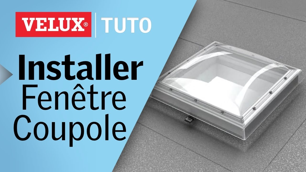 tuto comment installer une fen tre coupole velux pour toits plats youtube. Black Bedroom Furniture Sets. Home Design Ideas