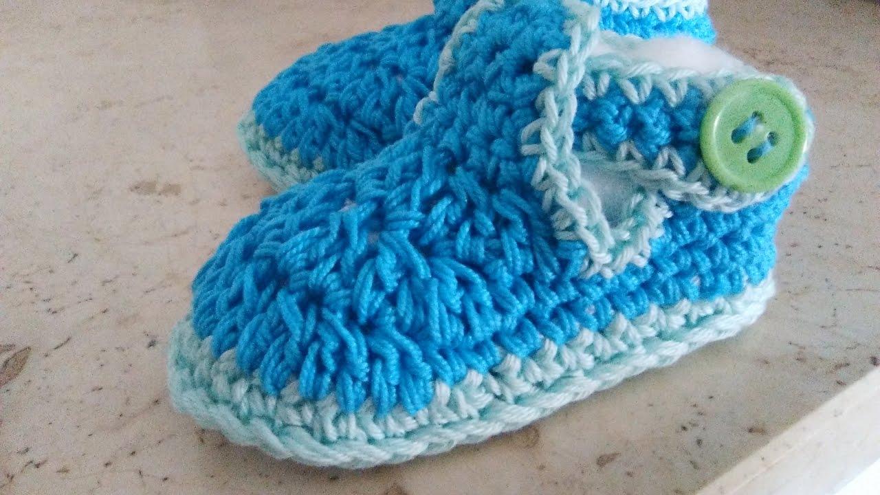 Scarpine Sandaletto Neonato Uncinetto Modello T In Tutte Le Taglie