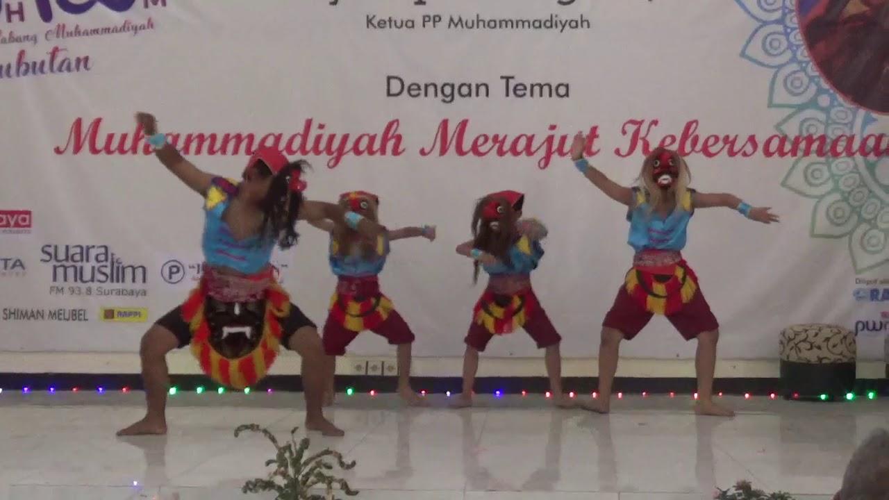 tari ganongan SD Muhammadiyah 12 Surabaya - YouTube