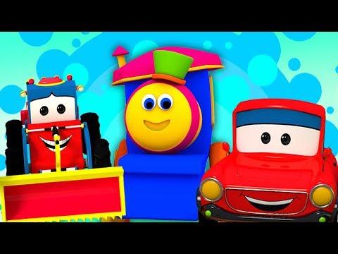 เรียนรู้การขนส่งยานพาหนะ   ถนนการเรียนรู้กับบ๊อบ   การ์ตูนวิดีโอ   เด็กบ๊อง   Transport Vehicles
