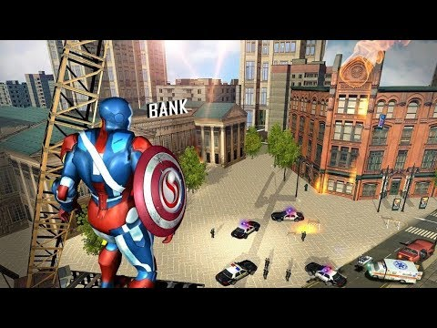 ► Flying Robot Captain Hero City Rescue Mission (The Game Storm Studios) Superhero Ironman Escape