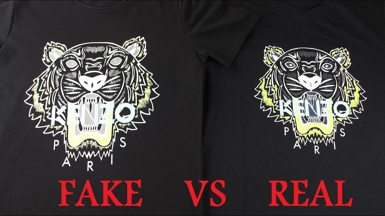 9076934c7ca Real vs Fake Kenzo T Shirt Guide - YouTube