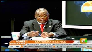 Power Breakfast: Mandera Killings