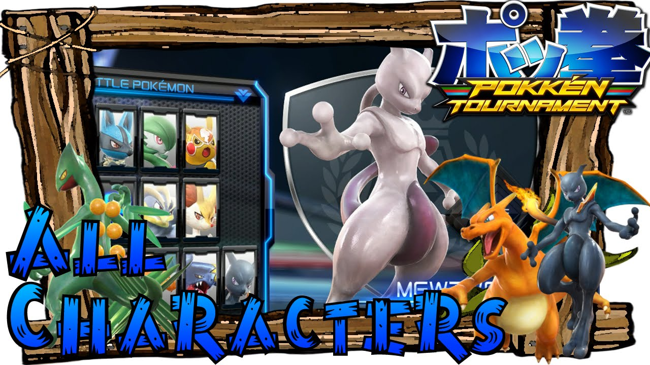 pokken tournament all characters support pokemon full roster