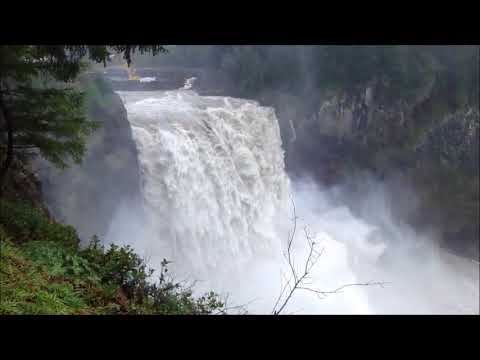 Snoqualmie Falls a 270 Foot Waterfall ~ Washington State USA