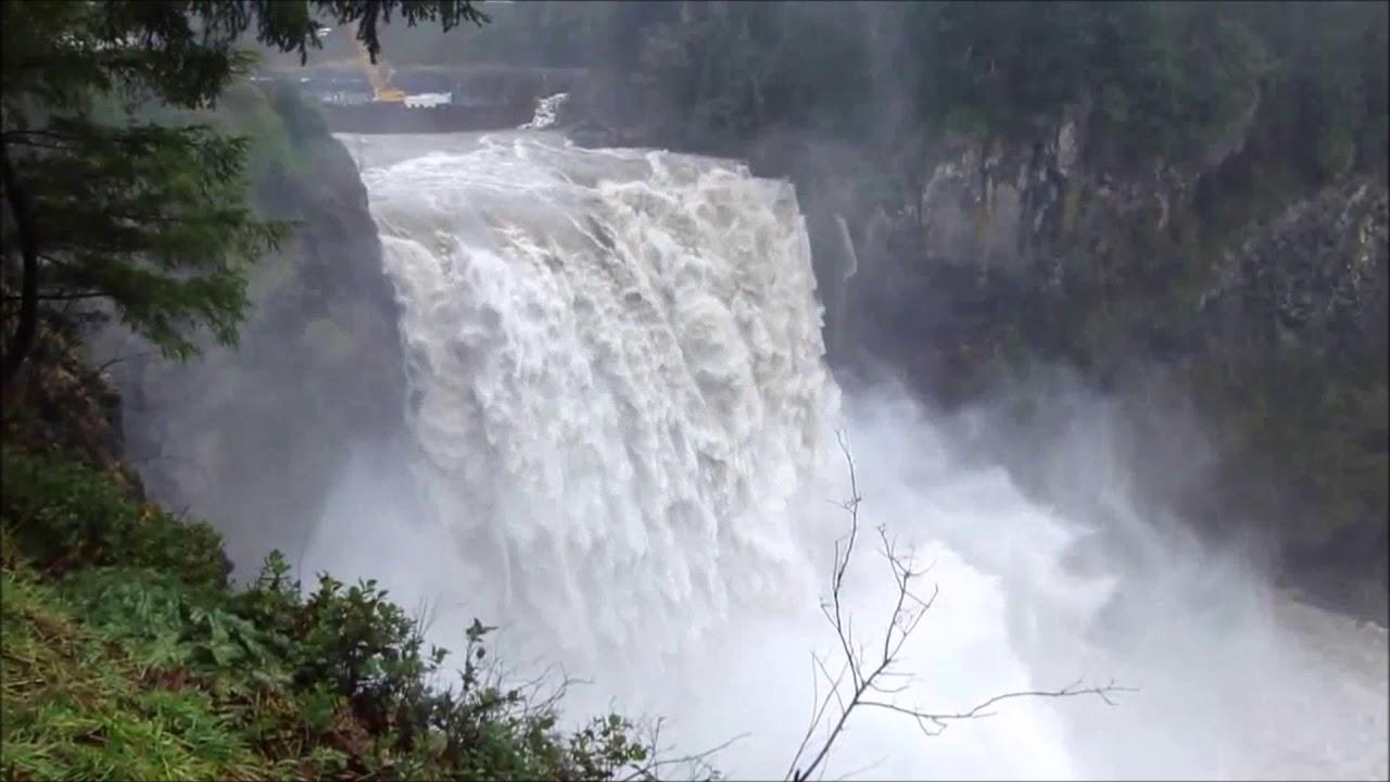 Snoqualmie Falls a 270 Foot Waterfall ~ Washington State USA