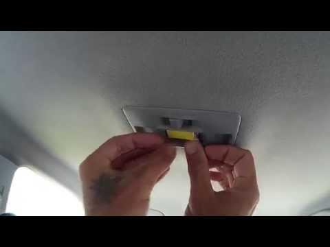 Установка светодиодной подсветки потолка из Китая на мазда 3