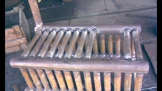 самодельный котел отопления на дровах.  heating boiler house