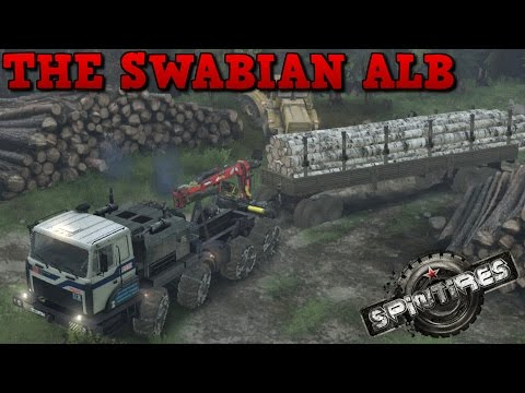 SpinTires | The Swabian Alb | Map Mod | MZKT 8x8 | Part 2