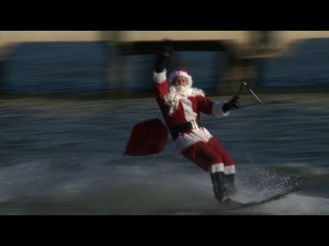 Le p re no l fait du ski nautique washington youtube - Pere noel ski ...