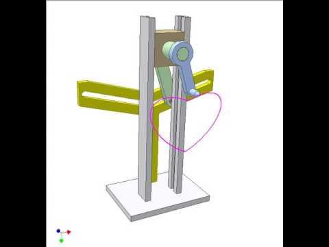 Line Drawing Heart Shape : Mechanism for drawing heart shape youtube