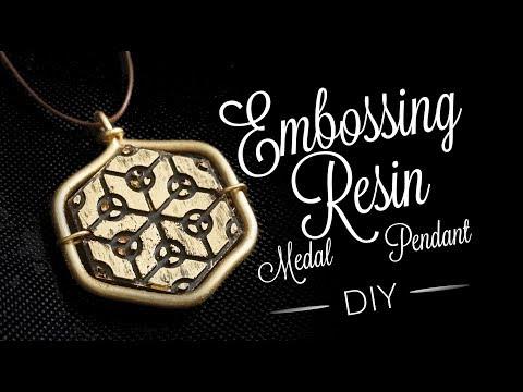 DIY Resin Embossing Medal Pendant